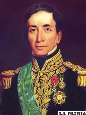6. ANDRÉS DE SANTA CRUZ Y CALAHUMANA  Nació en La Paz el 5 de diciembre de 1792 y murió el 25 de septiembre de 1865 en Versalles-Francia, sus restos mortales fueron repatriados. Fue nombrado como presidente por la Asamblea Constituyente el 24 de mayo de 1829 y presidió el país hasta el 17 de febrero de 1839, tras ser derrocado. En su gobierno instauró el servicio militar obligatorio de seis años; realizó el primer censo de población; hizo compilar los Códigos Civil y Penal convirtiendo a Bolivia en la primera nación a nivel continental con legislación propia y puso en vigencia la Segunda Constitución en 1834; ordenó la economía, saneó el tesoro hasta lograr superávit; creó las universidades de La Paz y Cochabamba; fue el verdadero organizador de la nación.