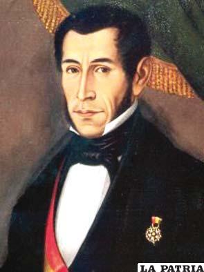 8. MARIANO ENRIQUE CALVO CUÉLLAR  Nació en Chuquisaca el 18 de julio de 1782 y murió en Cochabamba el 29 de julio de 1842. Fungió como Presidente de forma interina a partir del 9 de julio de 1841 y concluyó su mandato el 22 de septiembre de 1841, cuando fue derrocado. Fue destacado colaborador del Mariscal Santa Cruz y el vicepresidente que ocupó por más tiempo la Presidencia de forma interina en reemplazo de Santa Cruz, quién se hallaba en territorio peruano en el proceso de formación primero y durante el protectorado de la Confederación Perú-Boliviana. Asumió la Presidencia de la República del 10 al 27 de septiembre de 1841, invocando la legalidad del Gobierno depuesto de Santa Cruz, aunque no pudo hacer nada por la situación precaria en la que se encontraba el país.