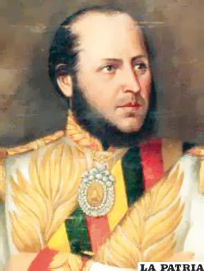9. JOSÉ BALLIVIÁN SEGUROLA  Nació en La Paz el 5 de mayo de 1805 y murió el 6 de octubre de 1852 en Río de Janeiro lugar desde donde sus restos fueron repatriados. Inició su mandato tras dar un golpe de Estado el 27 de septiembre de 1841 y concluyó el 23 de diciembre de 1847 al renunciar a su cargo. Durante su Gobierno se aprobó una nueva constitución; se fundó el departamento de Beni que incluyó las misiones de Moxos; se inauguró en La Paz el Colegio Normal de Señoritas; se descubrieron las importantes salitreras del Litoral; se realizó un censo nacional donde se estableció en 1845 la existencia de 1.378.896 habitantes y se compuso el Himno Nacional. Durante su gestión la economía de exportación estuvo signada por el guano.