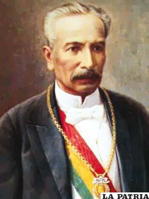 23. MARIANO BAPTISTA CASERTA  Nació el 16 de julio de 1832 en Calchani, provincia Ayopaya, Cochabamba, y falleció el 19 de marzo de 1907 en la ciudad de  Cochabamba. Fue electo constitucionalmente el 11 de agosto de 1892, hasta el 19 de agosto de 1897, cuando trasmitió el mando. Entre las obras importantes de su mandato se destaca la creación de escuelas fiscales, muchas de ellas administradas por los salesianos de Don Bosco, se aprovisionó de agua a Cochabamba y Tarija; se emprendieron varias obras nacionales como la construcción del Palacio de Gobierno en Sucre; se fomentó y organizó sociedades científicas y, se establecieron escuelas fiscales.