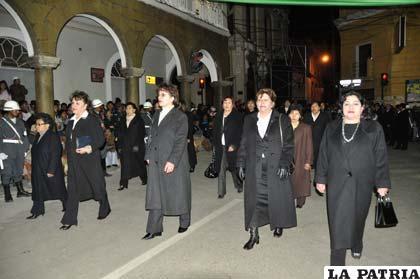 Juezas fueron parte del homenaje a Bolivia en sus 187 años de vida
