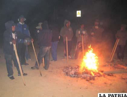 Trabajadores de Emcoisa hacieron vigilia en Inti Raymi