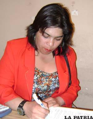 La presidenta del Consejo Departamental de Culturas, Carola Condarco