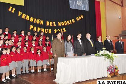 Acto de inauguración del Papmun 2012