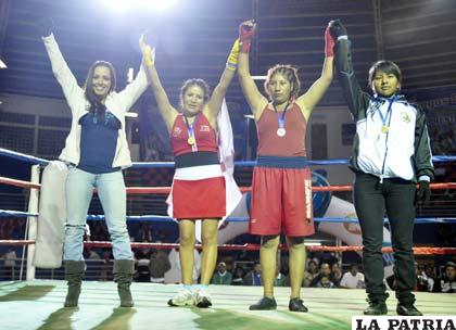 Claudia Balderrama estuvo presente en el certamen nacional (foto: APG)