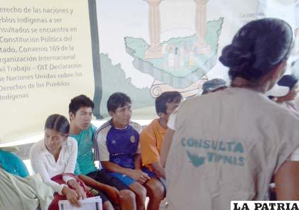 La consulta en el Tipnis se amplió hasta el 7 de noviembre (Foto archivo)
