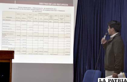 Secretarios departamentales explicaron destino de los recursos del POA 2013