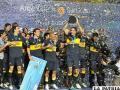 Celebración de los jugadores de Boca Juniors (foto: foxsportsla.com)