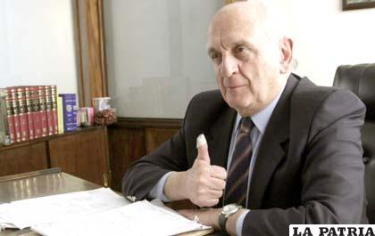 Expresidente del extinto Servicio Nacional de Caminos (SNC), José María Bakovic
