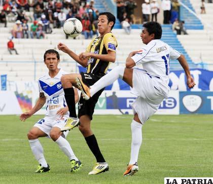 Del partido que jugaron el 14 de abril en Oruro