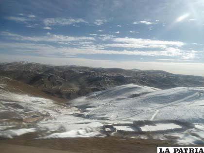 Así se veía la cordillera, un bello paisaje cual si fueran los Alpes