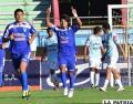 Helmuth Gutiérrez celebra el primer gol de Sport Boys