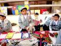 Niños de la escuela Mario  Flores promueven el reciclaje