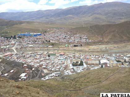 Una vista panorámica de Huanuni