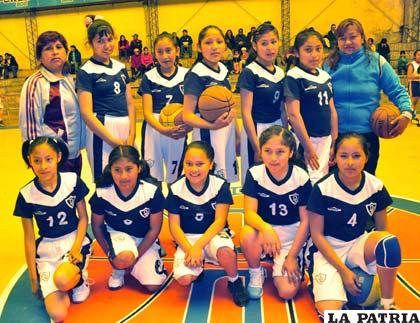El equipo del colegio Donato Vásquez