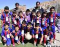 El equipo del colegio Guido Villagómez