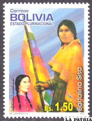 Se dedicó un sello postal a la heroína indígena