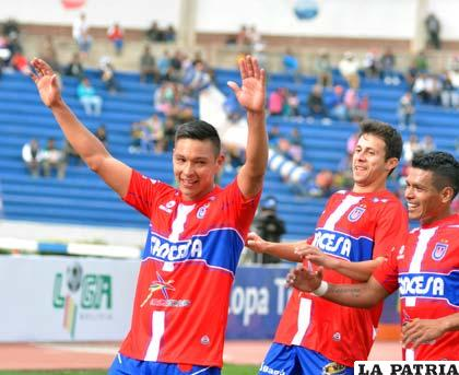 Eduardo Fierro fue el autor del único gol del partido /APG