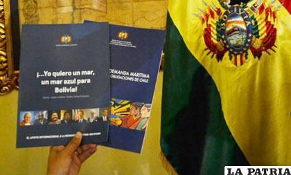 Folletos donde se explica los argumentos de la demanda marítima boliviana /DIARIOELNORTINO.CL