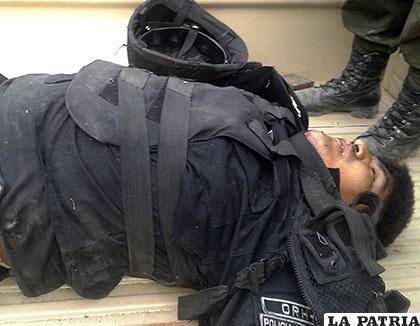 El sargento José Luis Quispe, falleció durante el enfrentamiento en Tacacoma /APG