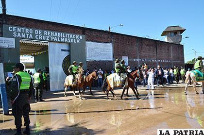 Frontis del recinto penitenciario de Palmasola /ABI