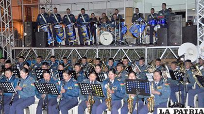 La Escuela Militar de Música de la FAB se presentará en concierto
