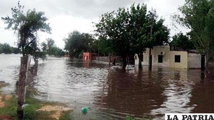 Calles inundadas en Uruguay /lanueva.com