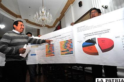 El diputado Wilson Santa María explica sobre el pago de publicidad gubernamental /APG