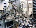 Edificio de la AMIA cuando sufri� el atentado /neuquenteinforma.com