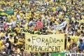 Miles de brasileños  hoy marcharán  contra la presidenta Dilma Rousseff