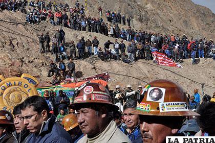 Huanuni y otros centros mineros son objeto del
