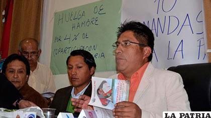Gobernador de La Paz, Félix Patzi, continúa en huelga de hambre /lostiempos.com