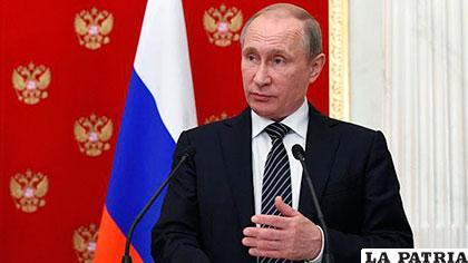 El presidente de Rusia, Vladímir Putin /euronews.com