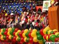 El Presidente Evo Morales, antes de emitir los decretos supremos