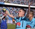 Juan Miguel Callejón celebra la victoria