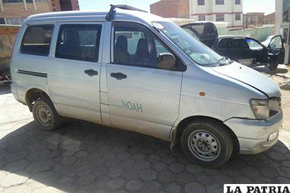 La vagoneta plateada fue robada en la ciudad de Cochabamba