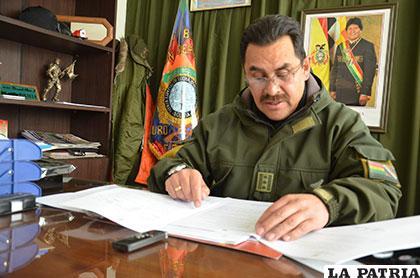 El coronel Pérez informó sobre el hecho