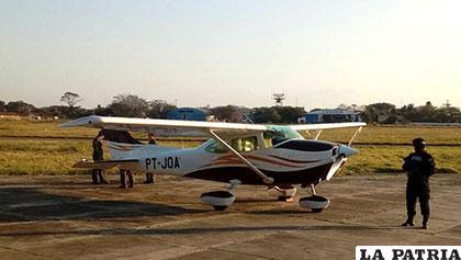 La avioneta brasileña secuestrada en territorio boliviano
