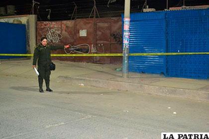 El lugar del incidente en el que una mujer estuvo cerca de morir /FELCV