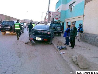 Los vehículos afectados estaban estacionados