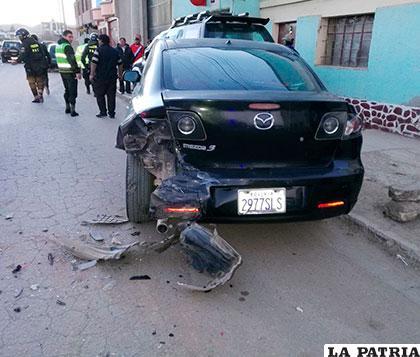Uno de los motorizados chocados por el conductor ebrio