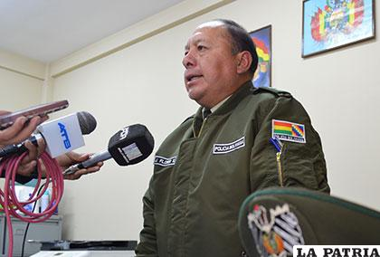 El director de la Felcv, teniente coronel Flores, informó del incidente