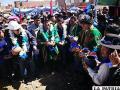 El Presidente Evo Morales inauguró las obras de enlosetado junto a otras autoridades