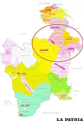 Mapa del territorio dominado por los Qaraqara