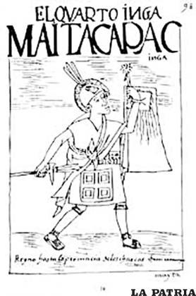 Un dibujo de Mayta Inca
