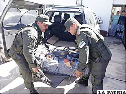 Gendarmes secuestraron la droga /Gendarmería Nacional