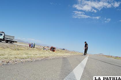 Desde el lugar donde se descontroló hasta el punto de descanso el vehículo recorrió 65 metros