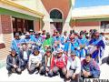 Dirigentes de la Cuenca del Río Paria en la celebración de su primer aniversario