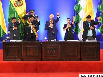 La Asamblea Legislativa Plurinacional (ALP) por los 194 años de la independencia de Bolivia /APG