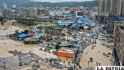 Autoridades estiman en unos 5,35 millones el número de afectados en Zhejiang /LA VANGUARDIA